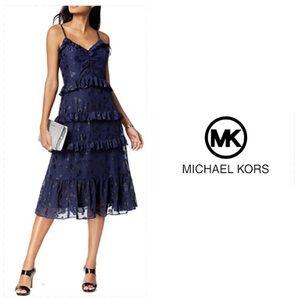 Michael Kors Tiered Ruffled Dress